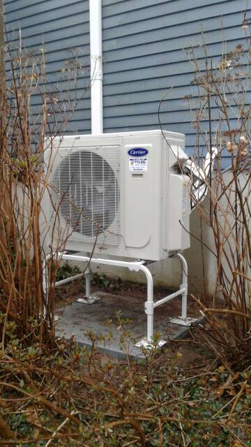 Guilford, CT - Installed a Carrier Performance Series 18 SEER 3.0 Ton Multi-Split Heat Pump