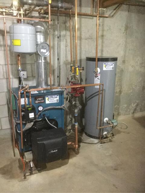 Derby, CT - Installed a Burnham Oil Boiler PV8H3WT.