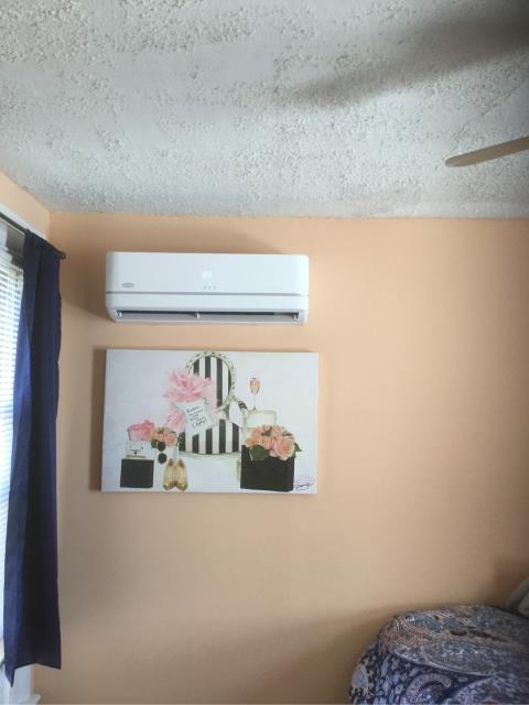 New Haven, CT - Installed a Carrier Performance Ductless 9000 BTU Single Head Heat Pump