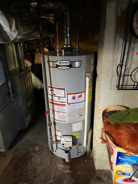 West Haven, CT - Installed an AO Smith 40 Gallon Gas Water Heater GCRL-40
