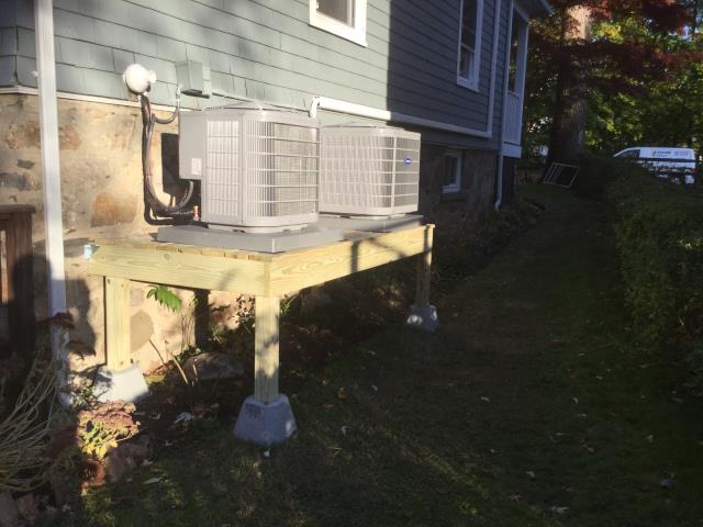 Greenwich, CT - Installed Two Carrier Performance 1.5 - 2.0 Ton Central Air Conditioning Systems with Two Carrier Performance 96% AFUE 40000 BTUH Gas Furnaces, Ductwork, and Removed all baseboards from the home.