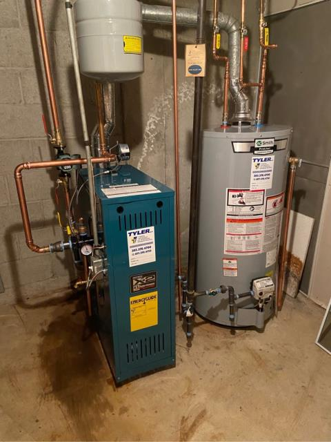 Stratford, CT - Installed a Burnham Gas Boiler X-203 and AO Smith 40 Gallon Gas Water Heater