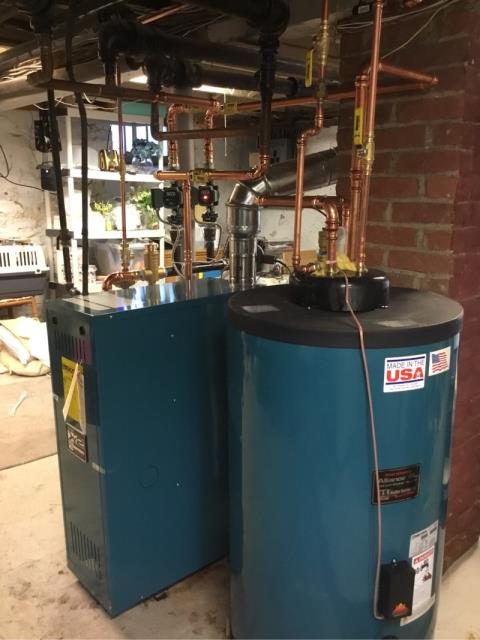Stratford, CT - Performed gas boiler service on Burnham boiler installed last year.