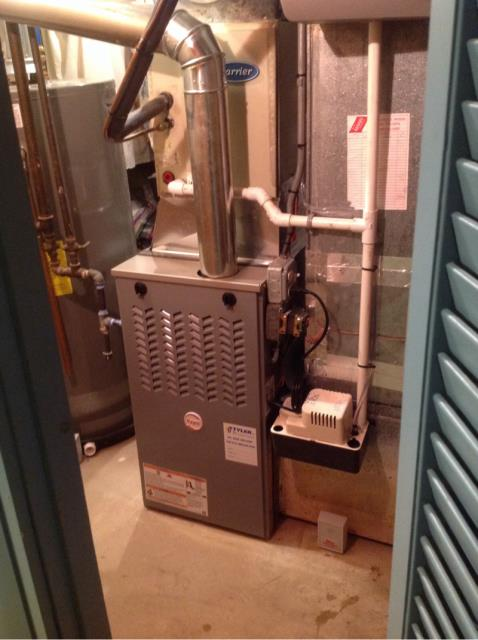 Stratford, CT - Performed gas heating maintenance on furnace.