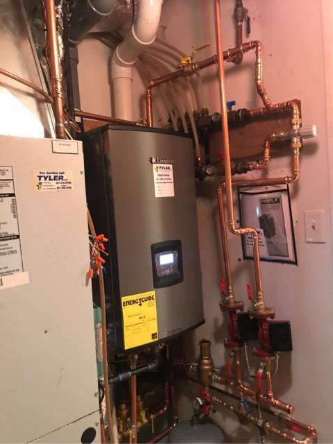 Ansonia, CT - Installed a Lochinvar Combi Gas Boiler NKC110.