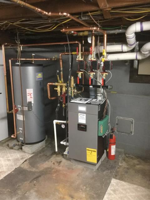 Fairfield, CT - Installed a Burnham Alpine ALP105 Gas Boiler.