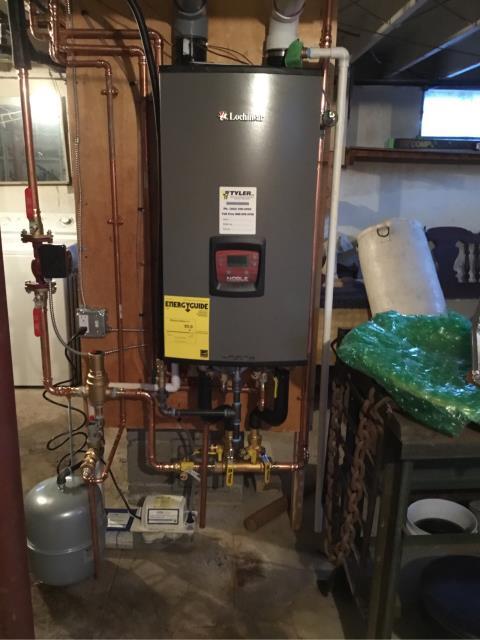 Stratford, CT - Installed a Lochinvar NKC110 105 BTU Gas Combi Boiler.