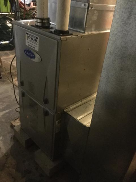 Fairfield, CT - Performed gas heating maintenance on Carrier furnace.
