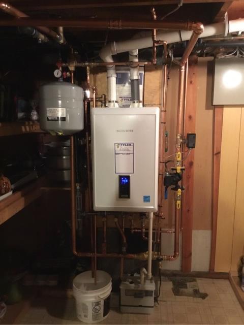 Stratford, CT - Performed heating maintenance on Navien boiler.