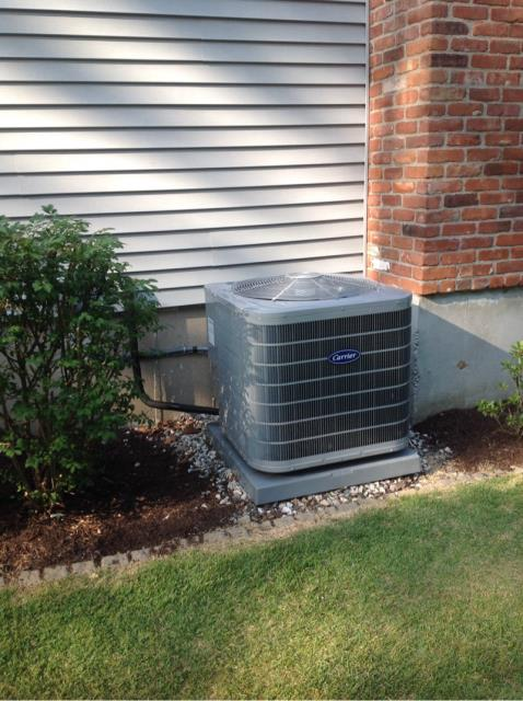 Shelton, CT - Spring startup on Carrier condensing unit.