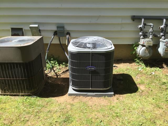 Milford, CT - Installed a Carrier Comfort 2 Ton 13 SEER Residential Air Conditioning System.