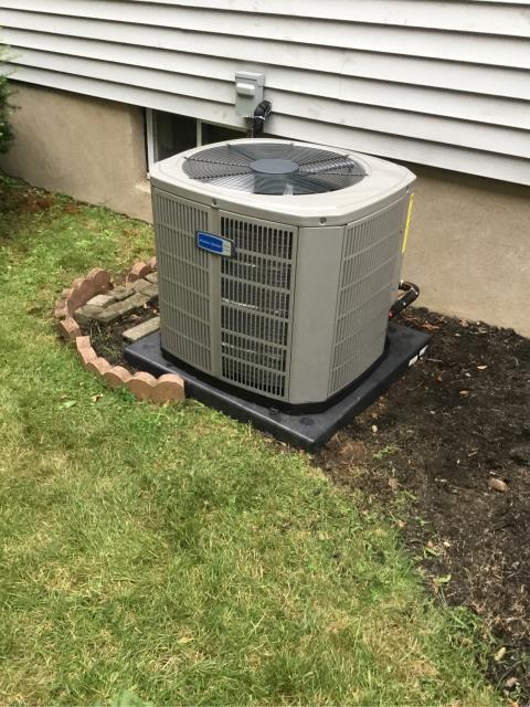 Stratford, CT - Installed an American Standard 2.5 Ton 14 SEER Single Stage Air Conditioning System.