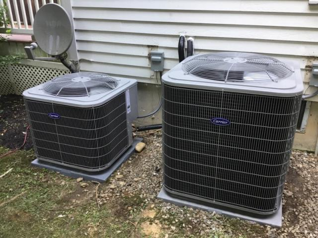 Trumbull, CT - Installed Two Carrier 2 & 4 Ton 16 SEER Residential AIr Conditioning Systems.