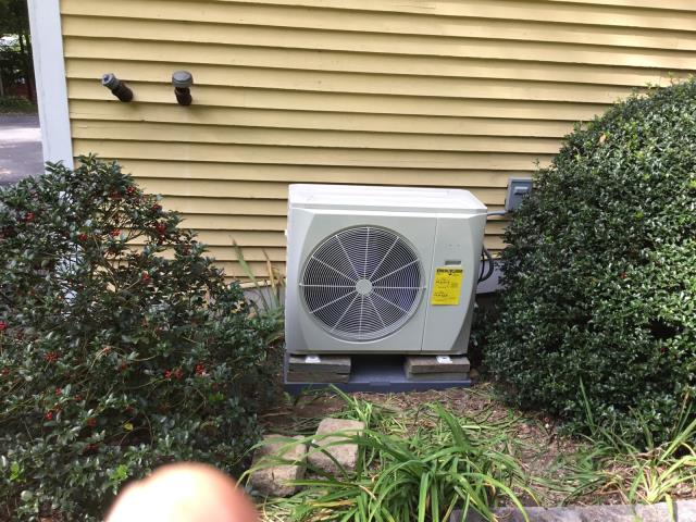 Redding, CT - We installed a Carrier Ductless 24000 BTU Single Zone Heat Pump.