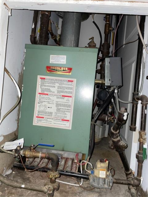 Stratford, CT - Performed heating boiler maintenance on Peerless boiler. Boiler is working well at this time but may be time to replace water heater.