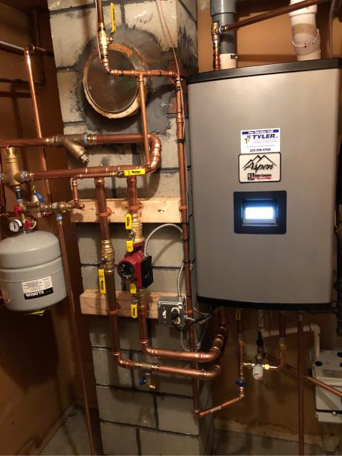Trumbull, CT - Performed boiler maintenance and flush. Also heating maintenance on Carrier Air Handler and air cleaner.