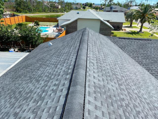 Panama City, FL - Just finished up this GAF Timberline HD architectural shingle roof in charcoal, over in Plantation Point in Callaway.