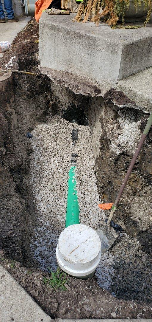 Repair of a broken sewer