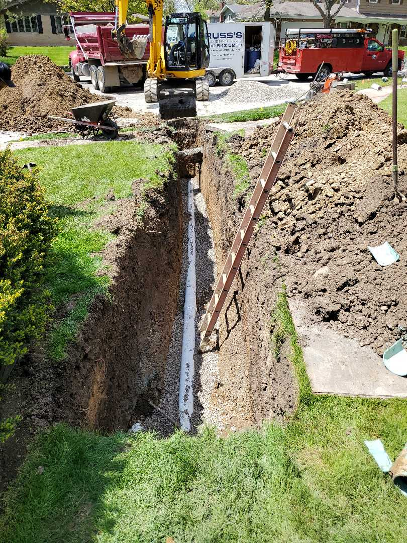 New sewer line