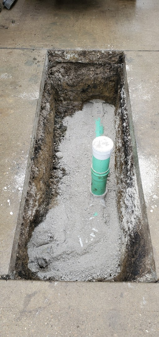 Install of a sewer cleanout