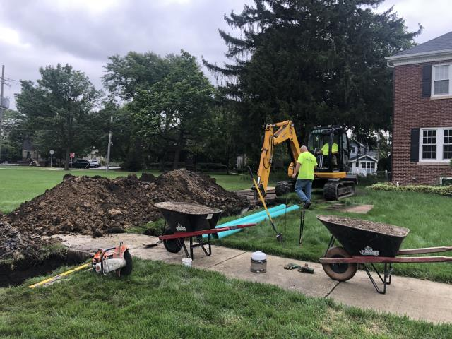 Capping old clean out and putting in new pipe for new cleanout.