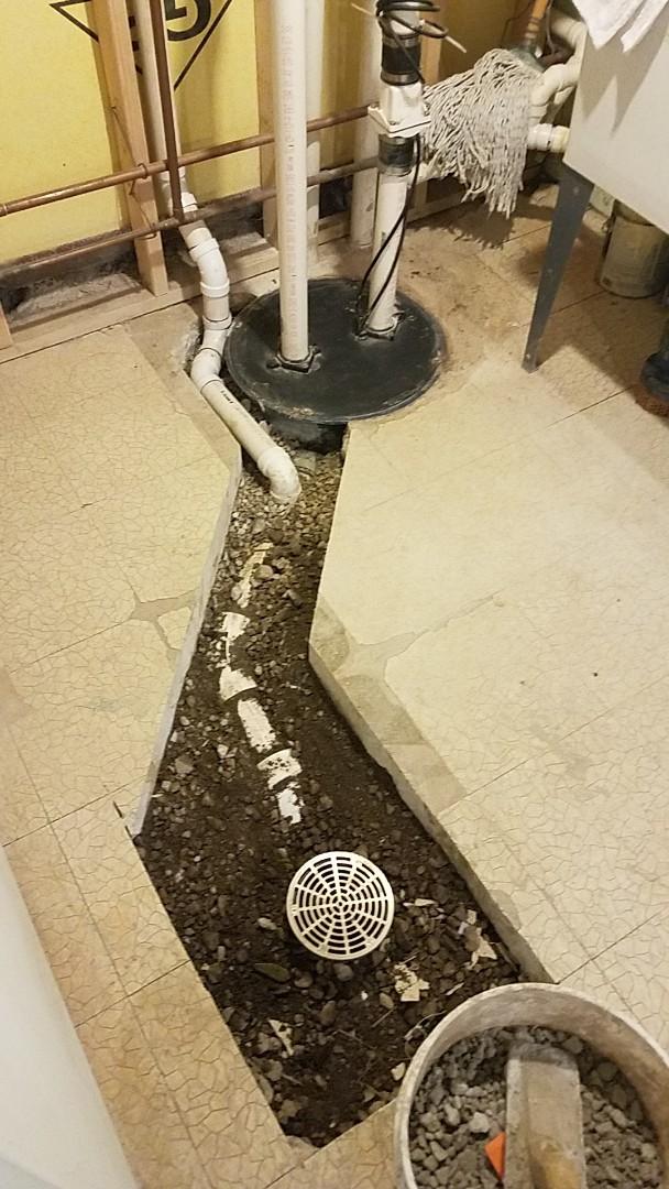 Floor drain installation