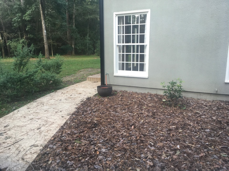 Conroe, TX - Snake service spraying the yard and looking for snakes