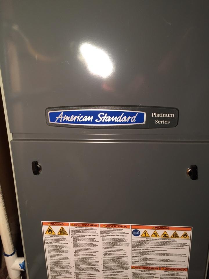 Salt Lake City, UT - Furnace tune up on 2 American Standard furnaces, platinum series.