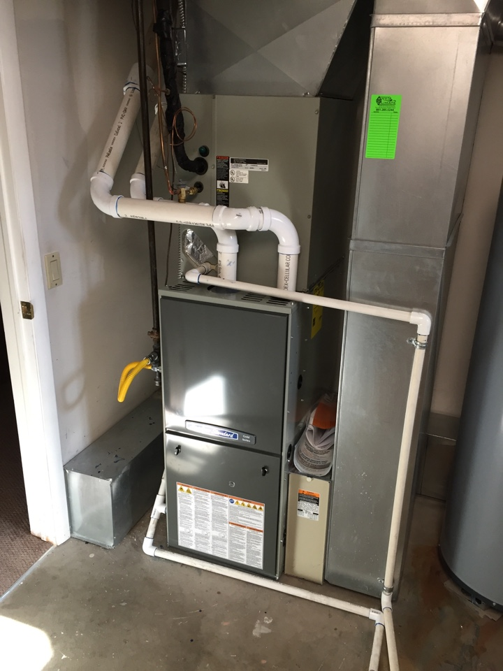 Salt Lake City, UT - Carrier furnace change out to an American Standard 2 stage variable, high efficiency furnace.