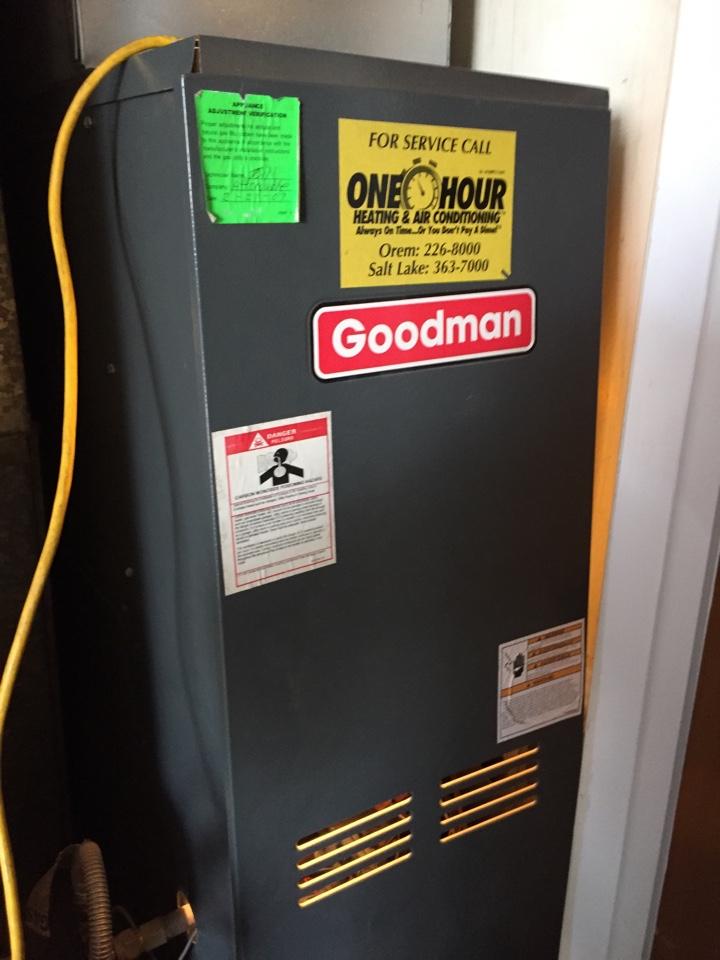 Salt Lake City, UT - Goodman 80% counter flow furnace, control board, inducer motor, pressure switch