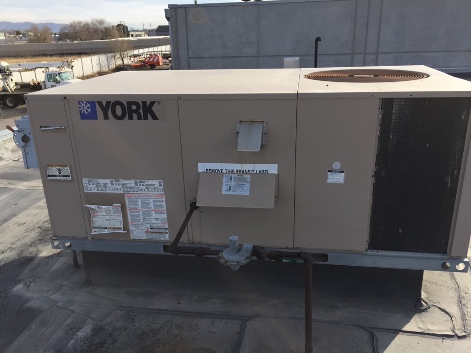 West Jordan, UT - Roof top commercial unit, tune up, filter replacements, maintenance. York
