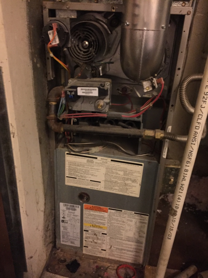Salt Lake City, UT - Performing a heating check on a trane furnace.