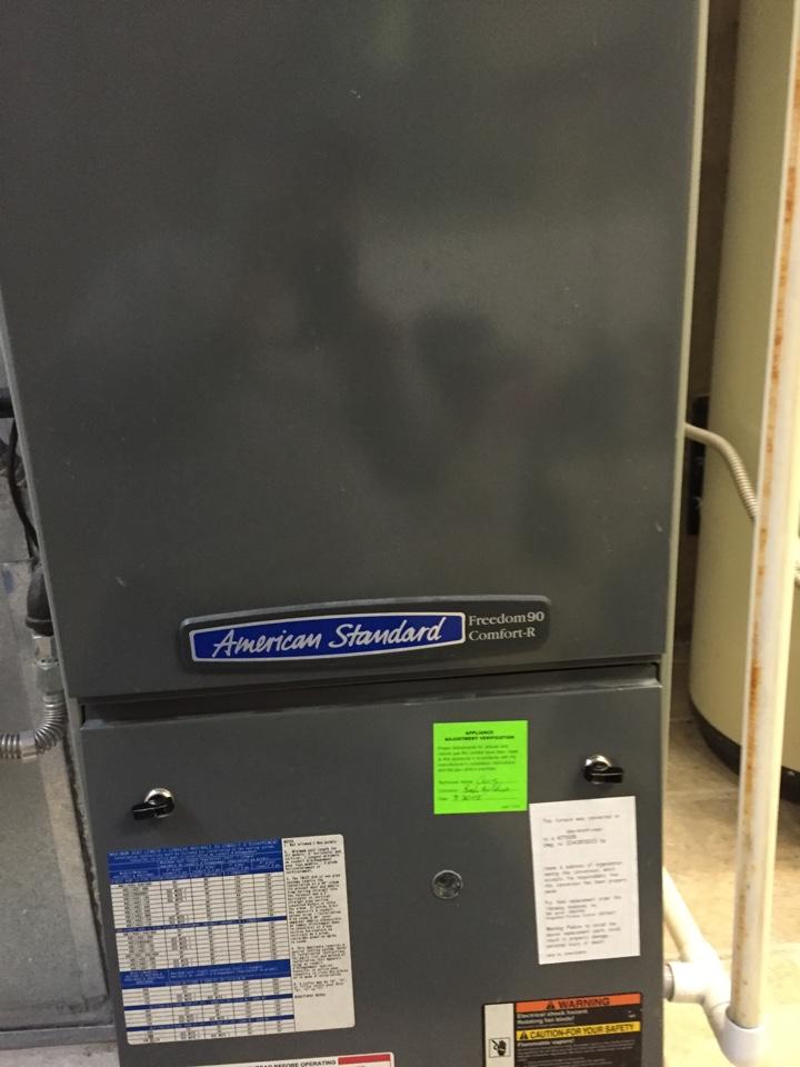 Salt Lake City, UT - American standard 90% furnace, clean blower, clean evaporative coil.