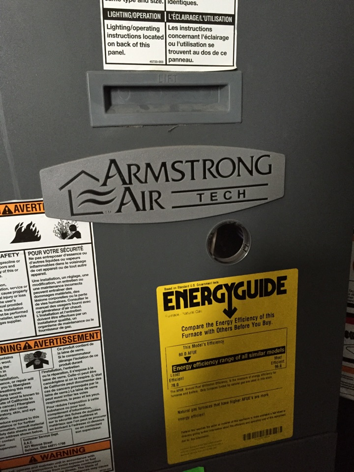 Farmington, UT - Armstrong 80% furnace