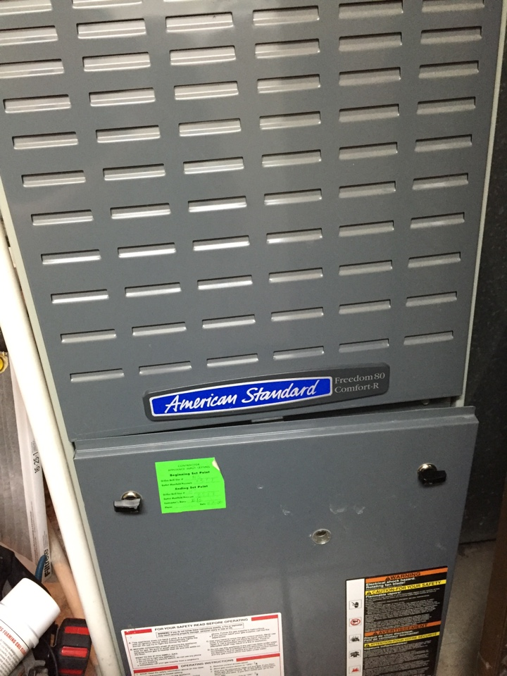 Midvale, UT - Customer says there is no air movement on his American standard furnace.