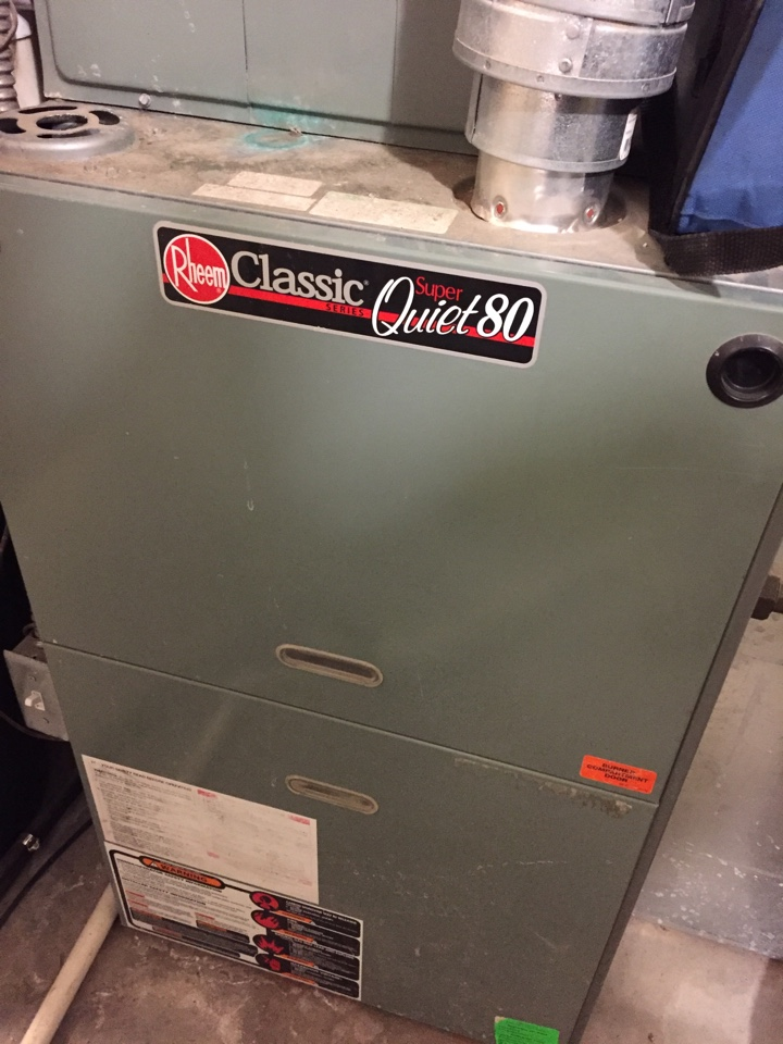 Herriman, UT - Turn up of a Rheem classic 80 furnace and humidifier