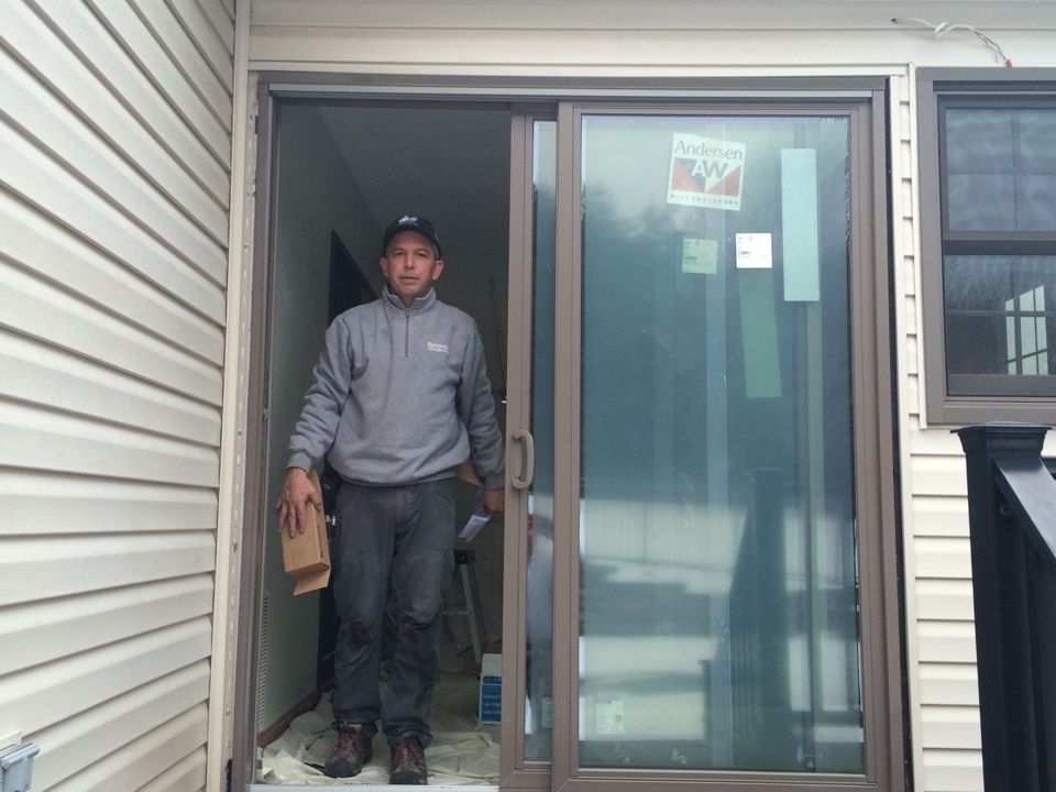 Cranberry Township, PA - BEE U TEE FULL Renewal by Andersen Sliding Glass Door installation . Great job Dave !!