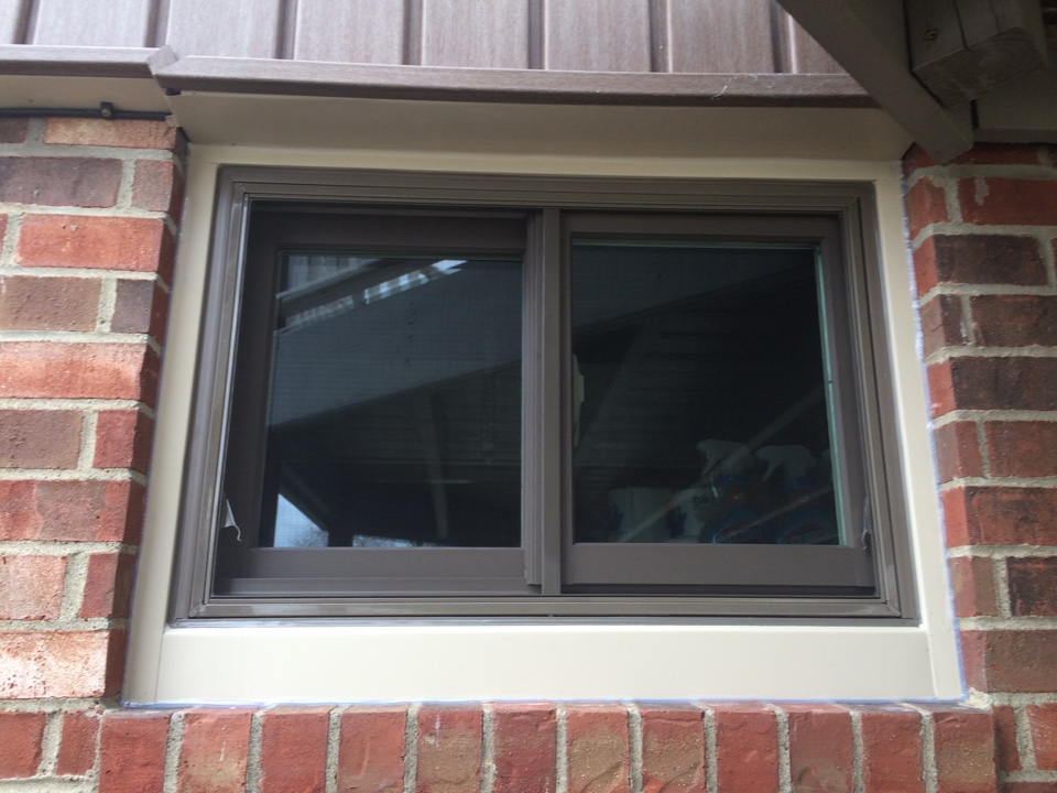 Irwin, PA - Brand new Renewal by Andersen replacement window. Another very happy repeat customer. Great job Mark and Matt