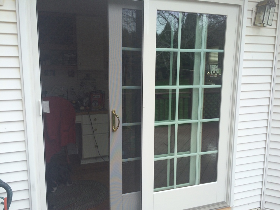 Cranberry Township, PA - Beautiful new patio sliding door installed by Renewal by Andersen. A repeat customer who knows quality when they see it!!