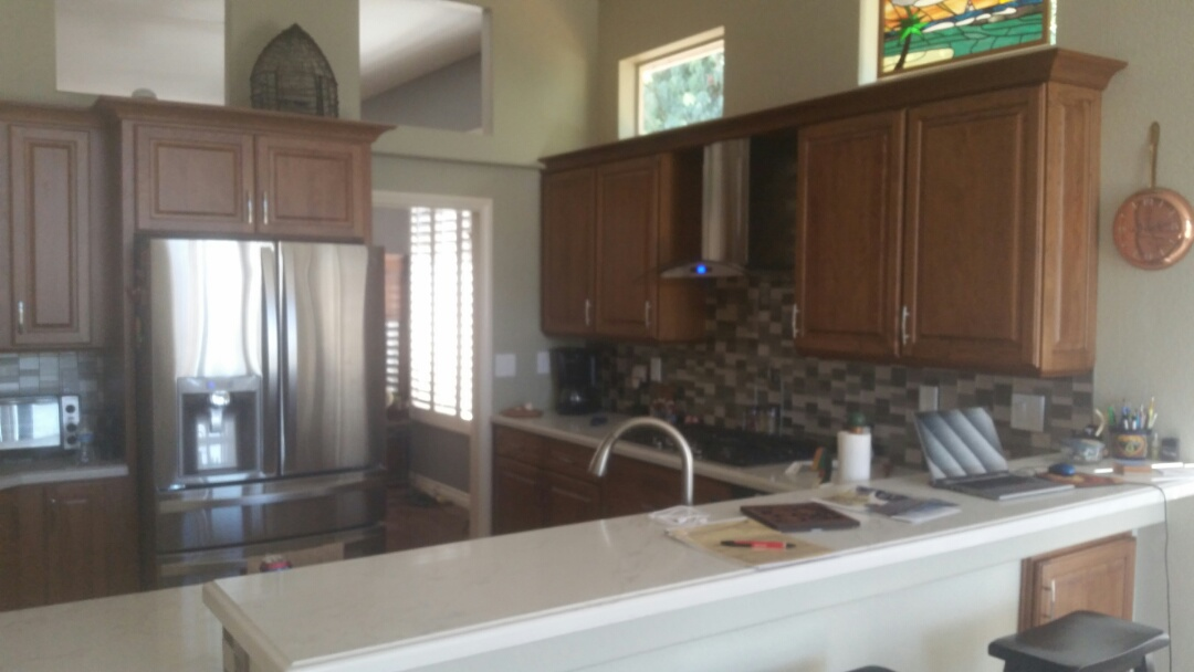 Escondido, CA - Custom Kitchen Remodel completed in three weeks.