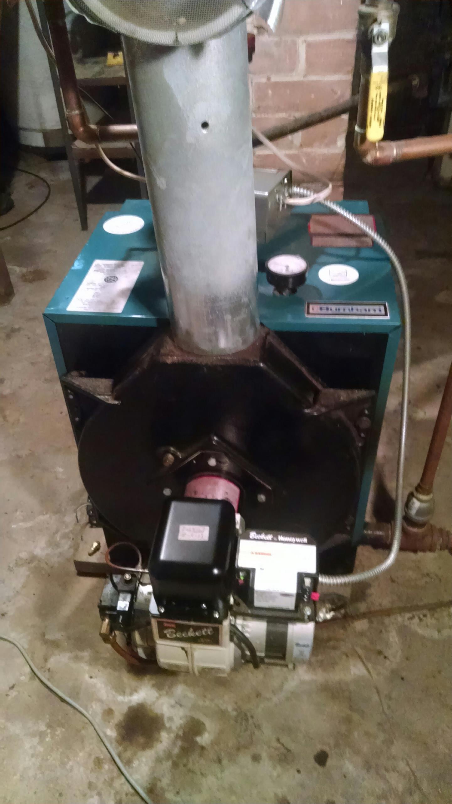 Elmwood, WI - Repaired a Burnham oil boiler not working