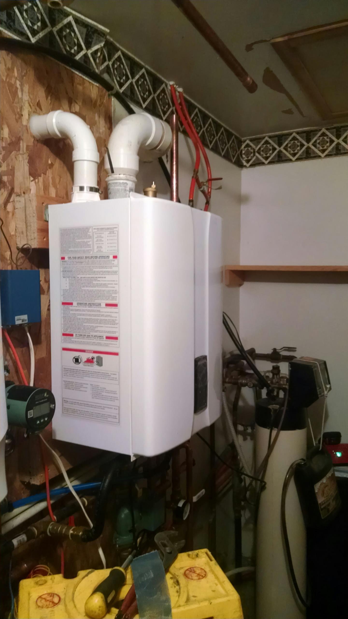 Elmwood, WI - Installing new Navien boiler