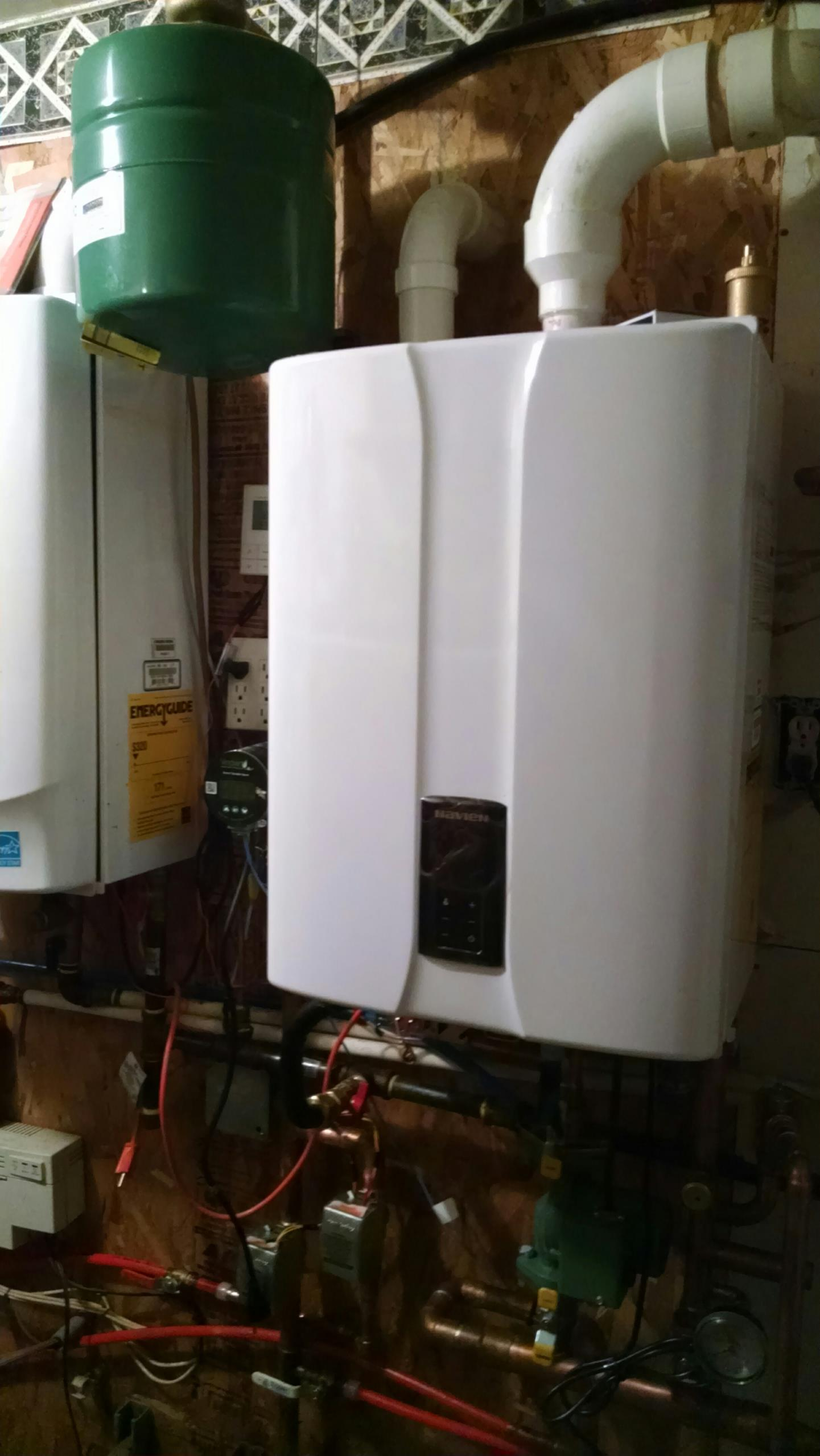 Elmwood, WI - Replacing circulation pump on a Navien boiler system for in floor radiant heat