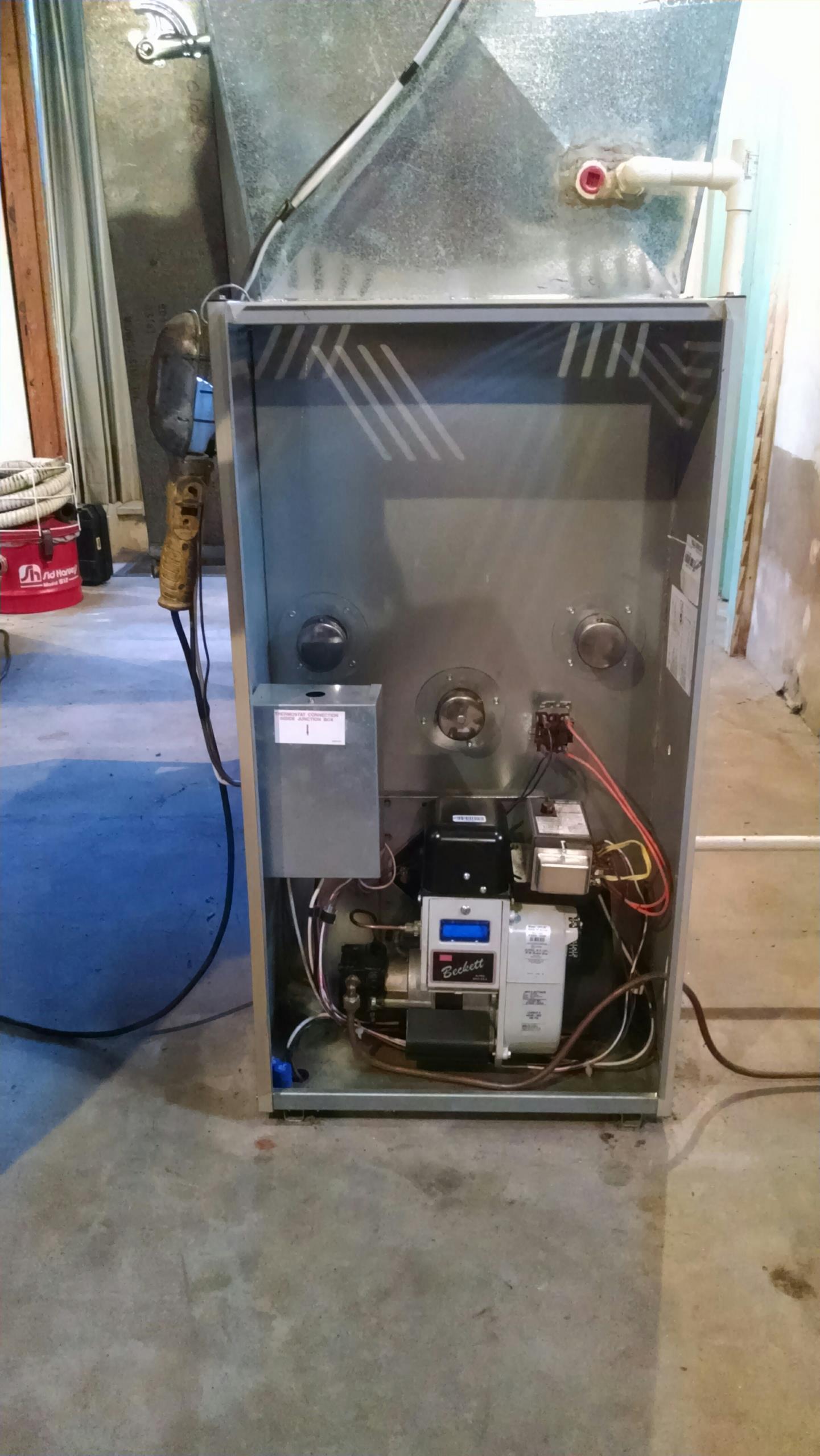 Pepin, WI - Oil furnace tune-up