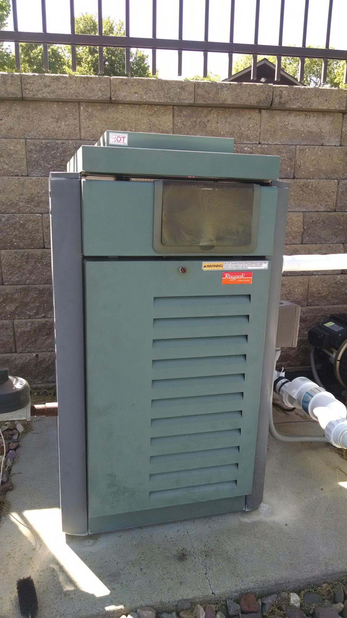 Durand, WI - Repaired poolheater