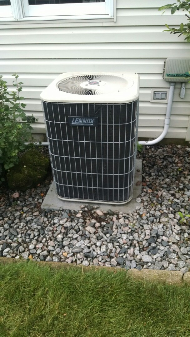 Eau Claire, WI - Repaired chewed wires inside AC unit. Caulked wire entrance to compressor cavity and cleaned coil.