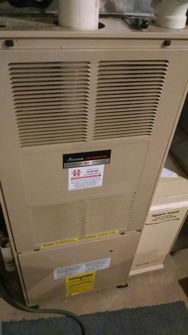 Menomonie, WI - Repaired Amana furnace