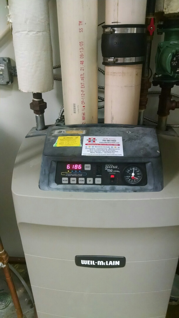 Durand, WI - Servicing gas boiler