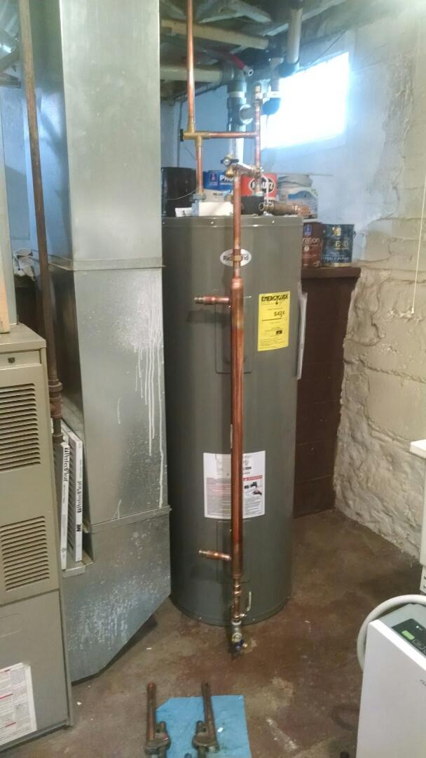 Menomonie, WI - Installing outdoor wood boiler