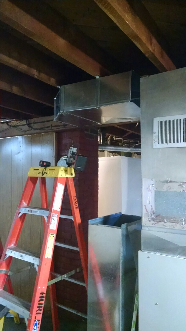 Installing ductwork